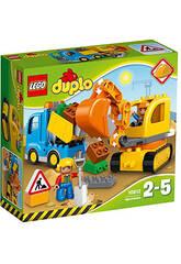 Lego Duplo Caminhão e Escavadora de Esteiras 10812