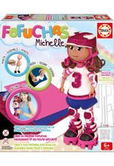 Muñeca Fofucha Michelle Patinadora Educa Manualidades 16793