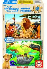 Puzzle 2 x 50 Animaux Friends Educa 13144