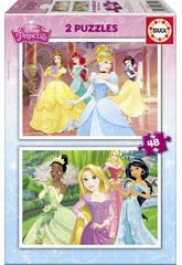 Puzzle Princesses Disney 2x48 pièces