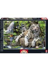 PUZZLE 1000 Tigres Blancos de Bengala 68x48 cm EDUCA 14808
