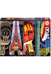 Puzzle 1000 Collage de París