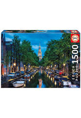 Puzzle 1500 Début De Soirée Sur Le Canal, Amsterdam Educa 16767