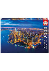 Puzzle 2000 New York Vista Aerea Educa 16773
