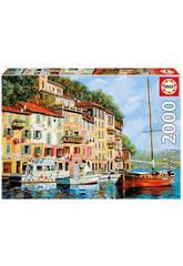 Puzzle 2000 La Barca Rossa Alla Calata - Borelli Educa 16776