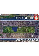Puzzle 3000 Central Park, Nueva York 144x68 cm EDUCA 16781