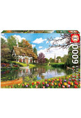 Puzzle 6000 Frühling am See