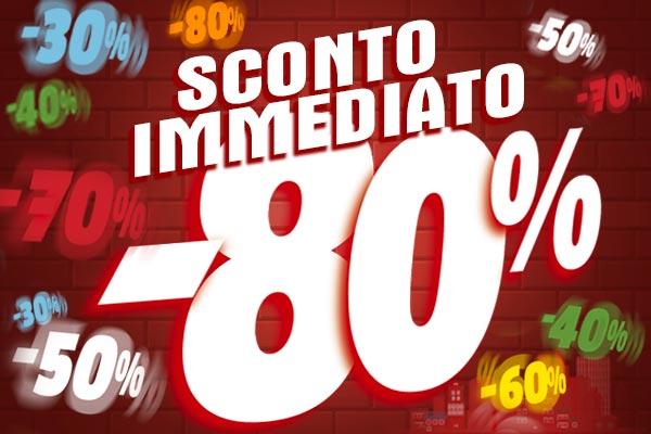 Sconti diretti dal 30% al 80% su una vasta selezione di articoli