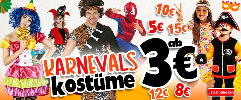 Angebot in Karnevalskostümen